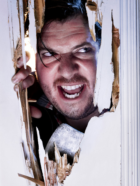 Danny McBride as, The Breakthrough (Inspired by Jack Nicholson in The Shining. Photographed by Mark Seliger.)