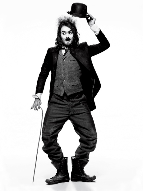 Russell Brand as The Comic (Inspired by Charlie Chaplin. Photographed by Mark Seliger.)
