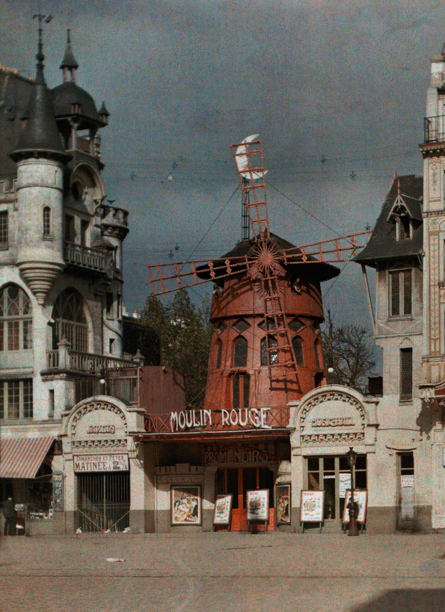 The Moulin Rouge at Montmartre in Paris, 1923.