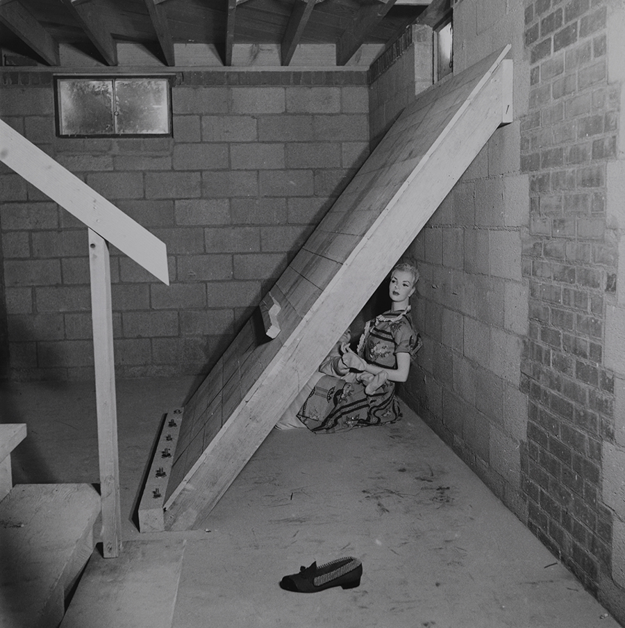 A shielded dummy in a basement for atomic bomb testing in Nevada, March 1953