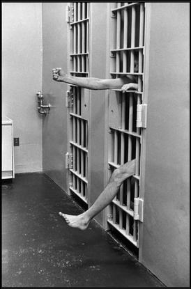 USA. 1975. New Jersey. Model prison of Leesbury. Solitary confinement.