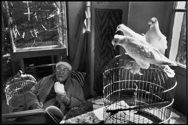 "FRANCE. 1951. Alpes-Maritimes. Vence. French painter Henri MATISSE at his home, villa ""Le Reve""."