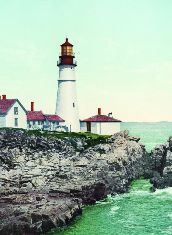 Portland Head Light, Maine, photochrom.