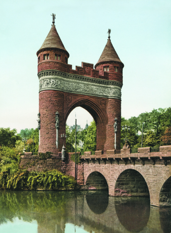 Memorial Arch, Hartford, Connecticut, photochrom.