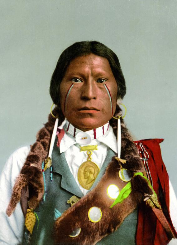 Apache Chief James A. Garfield, photochrom.