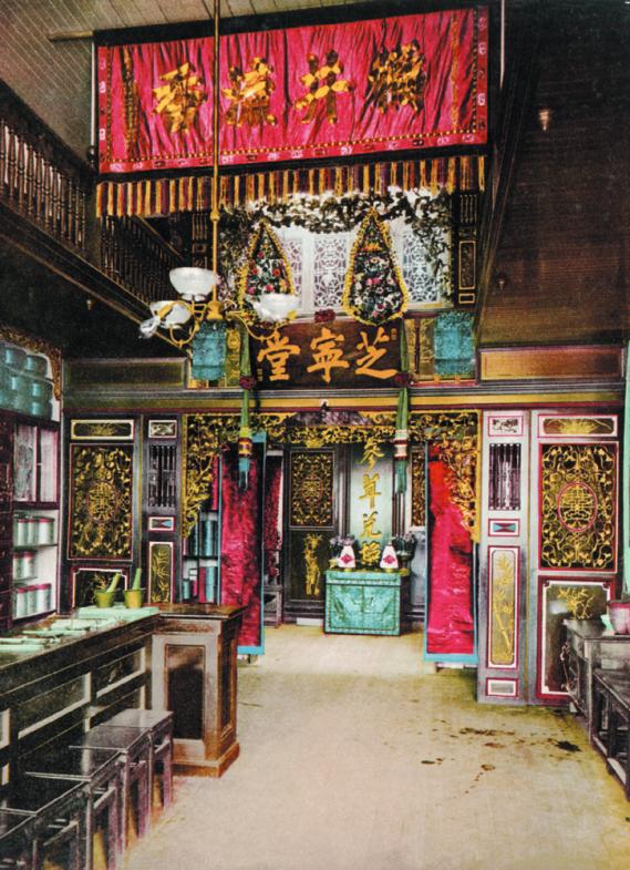 Chinese pharmacy, Chinatown, San Francisco, photochrom.