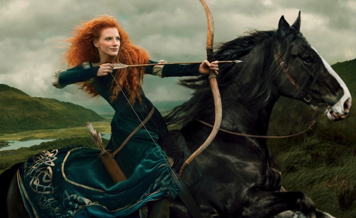 Jessica Chastain as Merida (Brave)