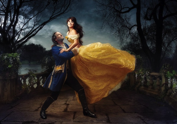 Penelope Cruz and Jeff Bridges as Beauty and the Beast