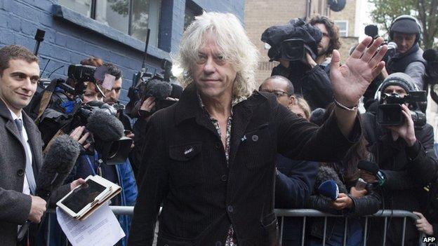 Ο Bob Geldolf πριν την ηχογράφηση