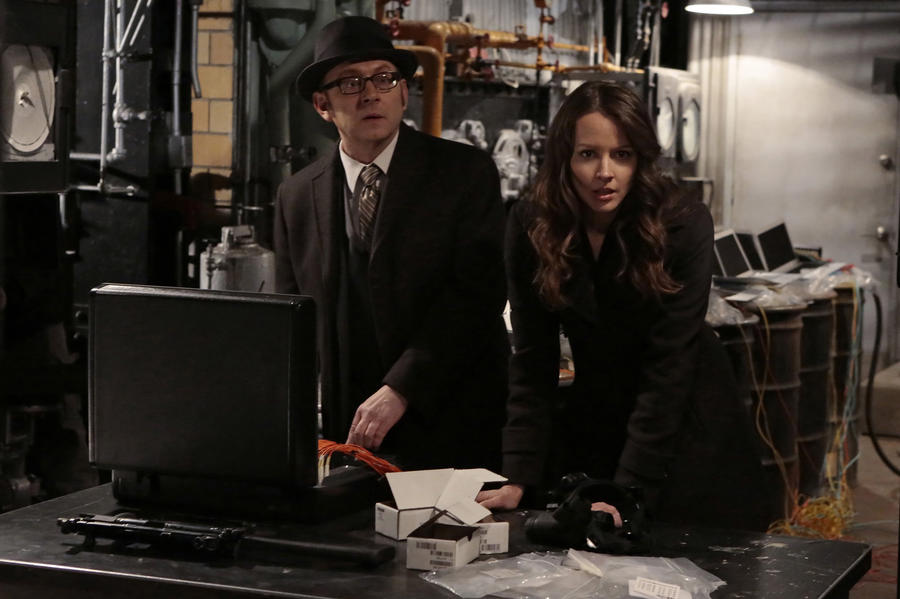 """YHWH"" -- Finch (Michael Emerson, left) and Root (Amy Acker, right) race to save The Machine, which has been located by the rival AI, Samaritan, while Reese is caught in the middle of the final showdown between rival crime bosses Elias and Dominic, on the fourth season finale of PERSON OF INTEREST, Tuesday, May 5 (10:01-11:00 PM, ET/PT) on the CBS Television Network. Photo: Giovanni Rufino/Warner Bros. Entertainment Inc. © 2015 WBEI. All rights reserved."